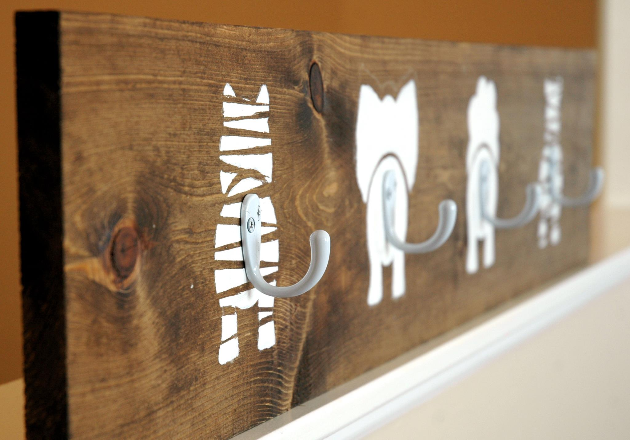 18 diy coat rack ideas are eye catching versatile and for Cool wall hook ideas