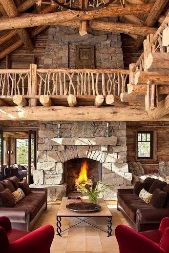 18 Log Cabin-Home Decoration Ideas