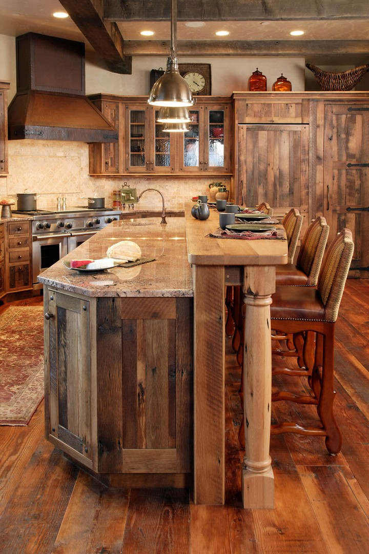 rustic kitchen cabinet ideas (4)