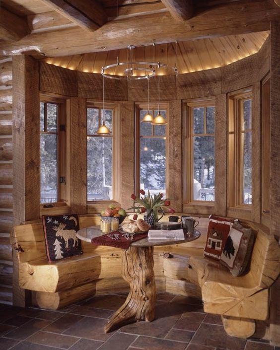18 Log Cabin-Home Decoration Ideas