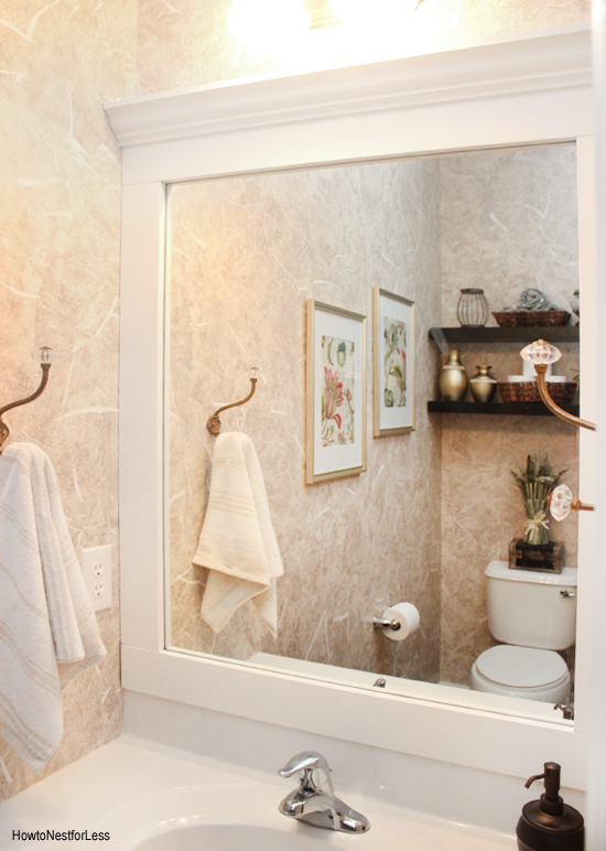 Easy Bathroom Mirror Frame Ideas